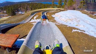 [4K] Bobsled Ride At Big Bear   Alpine Slide At Magic Mountain   Bear Mountain