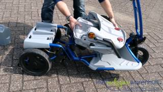 preview picture of video 'Easy travel maxi Scootmobiel Opvouwbaar'