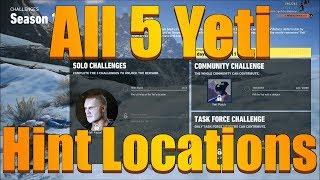 Ghost Recon Wildlands - All 5 Yeti Hint Locations (Season 1 Week 6 Tips and Rewards Guide)