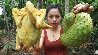 Yummy cooking chicken with Soursop fruit recipe - Cooking skill