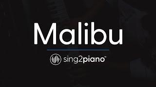 Malibu [Piano Karaoke Instrumental] Miley Cyrus