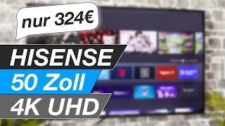 Hisense 50AE7200F - 50 Zoll 4K UHD Fernseher - Ausge'boxt' und eingerichtet
