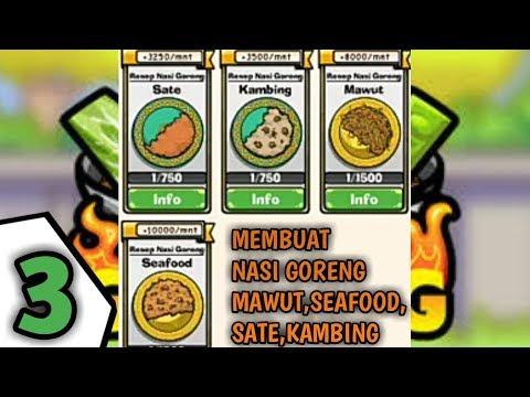 Video Membuat Nasi Goreng sate,kambing,mawut,Dan seafood-Permainan Nasi Goreng-Episode 3 indonesian game