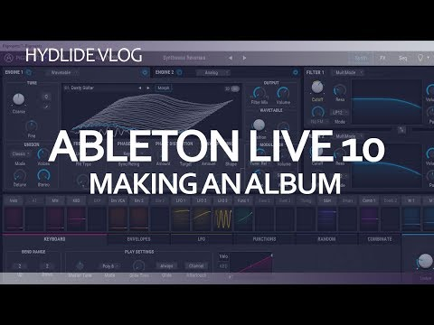 Ableton Live 10 - making an album