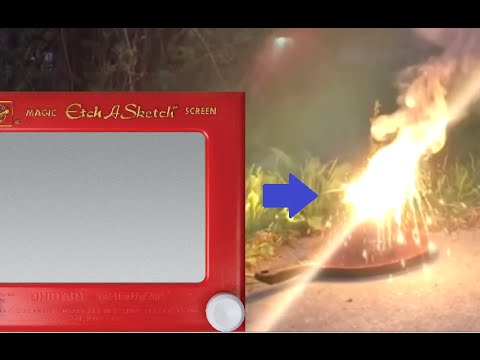Thermite From An Etch A Sketch; Yes It Can Be Done!