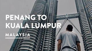 PETRONAS TWIN TOWERS FACTS - PENANG TO KUALA LUMPUR FLIGHT | Malaysia Travel Vlog 090, 2017