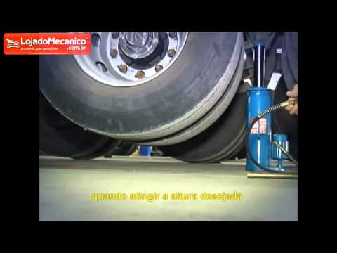 Macaco Moleiro Hidro Pneumático com Válvula 30 Toneladas - Video