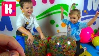 Орбиз и сюрпризы с игрушками в разноцветных шариках Orbeez surprise toys unboxing