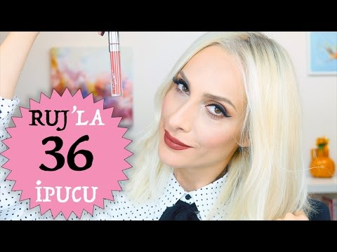 Bilmeniz Gereken 36 RUJ İpucu | 36 Lipstick Hacks You Need To Know | Sebile Ölmez