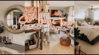 OUR HOME TOUR   Boho, Mid-century Modern, Vintage