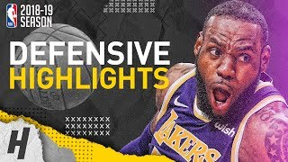 LeBron James Defensive Highlights from 2018-19 NBA Season! Lakers Compilation!