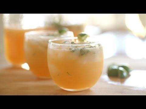 Cantaloupe Agua Fresca Drink Recipe || KIN EATS