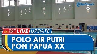 Meski Dibatasi, Penonton Antusias Lihat Pertandingan Polo Air Putri PON Papua di Stadion Akuatik