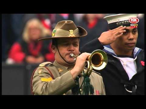Anzac Day 2015 at the MCG. 100,000 people. You could probably hear a pin drop.