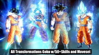 Goku's All New Epic Transformations w/Custom Movesets & 50+Skills K-SSJ1-2-3-G-B-K-X10-X20-BE-UI-MUI