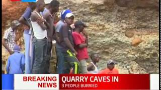 BREAKING NEWS: Walls of Gikindu quarry in Kieni collapse killing one person