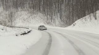 Running up the Cherohala Skyway in snow/ice yesterday - March 26, 2013