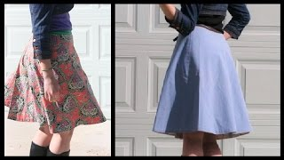 Reversible Wrap Skirt   Sewing How To    Whitney Sews