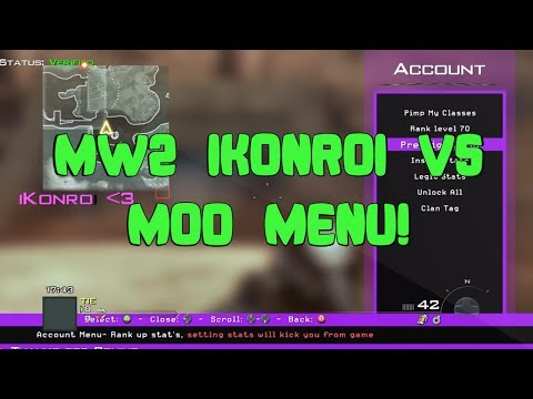 MW2 iKonroi V5 All Client Mod Menu - смотреть онлайн на Hah Life