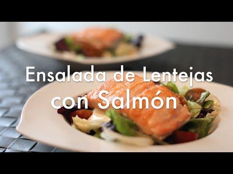 Ensalada de Lentejas con Salmón - Recetas de Cocina