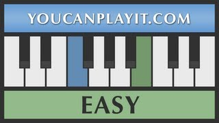 Adeste Fideles - How To Play Piano - Easy Tutorial