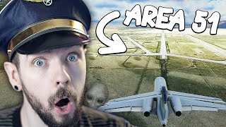 I Flew to AREA 51 in Flight Simulator