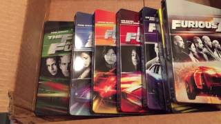Unboxing The Fast and the Furious 1-7 Steelbook Collection. (W/ BONUS UNBOXING TOO)