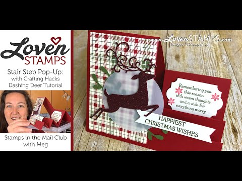 Crafting Hacks: Stairstep Pop-Up Cards for Christmas with Dashing Deer