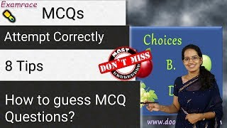 How to guess MCQ Questions correctly | 8 Advanced Tips - Attempt MCQs Successfully