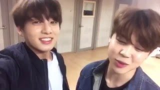 160401 Jungkook & Jimin Singing HOMME's 너 내게로 와라 (Just Come To Me)