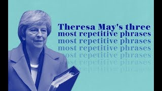 Watch Theresa May's three most repetitive phrases