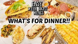 WHAT'S FOR DINNER | EASY WEEKNIGHT MEALS AND RECIPES | JESSICA O'DONOHUE