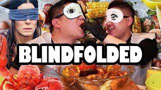 BLINDFOLDED SEAFOOD BOIL MUKBANG - MESSY EATING