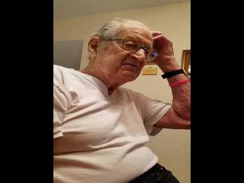 A 98 year old man reacts to being told what his age is