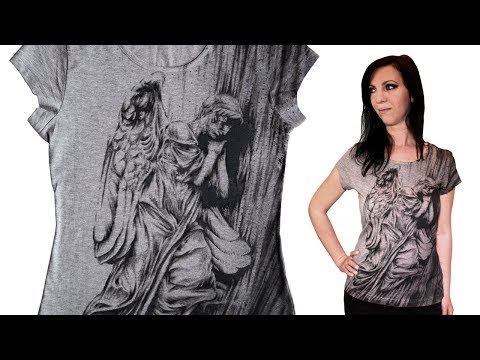 How to Draw T-shirt - ANGEL