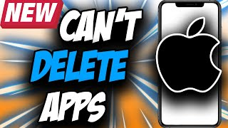 How to Delete Apps on iPhone ✅ Can't Delete apps iOS 14 FIXED