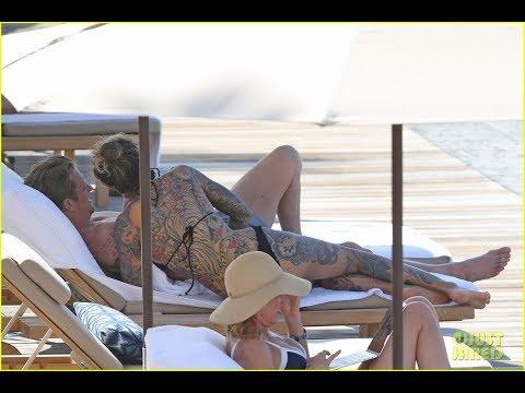 Joel Kinnaman & Wife Cleo Wattenstrom Bare Hot Tattooed Bodies in Hawaii!