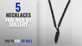 Top 10 Sullery Necklaces For Men [2018]: Sullery 6 Mm Natural Stone Black Agates Onyx Beads Mala