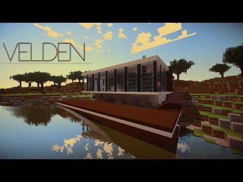 Velden a modern lake house Minecraft Project