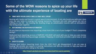 IMPORTING A BOAT FROM USA TO AUSTRALIA