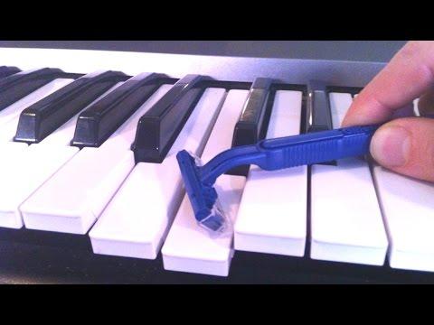 shaving my piano