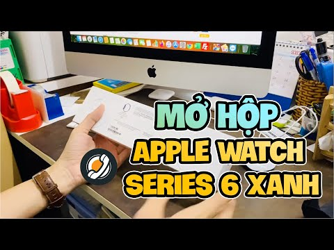 Mở hộp Apple Watch Series 6 Xanh