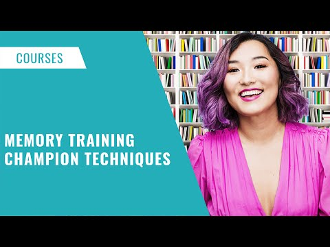 Memory Training Champion Techniques Online Course - YouTube