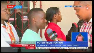 Voter turn out in Mombasa is fair as extended voter listing is set to end today