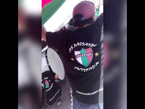 """""""PALESTINO VS U DE CHILE 2018 / LOS BAISANOS"""" Barra: Los Baisanos • Club: Club Deportivo Palestino"""
