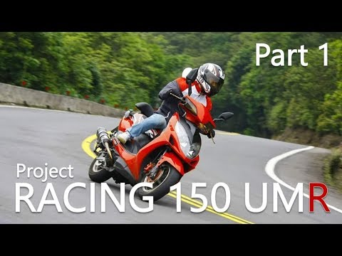 Part 1. Modified Scooter in Taiwan. Kymco Racing 150 UMR Review. Tires, Shocks, Engine, Exhaust.