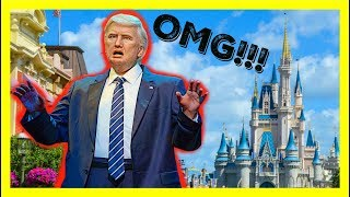 SCARIEST ANIMATRONIC IN DISNEY WORLD Donald Trump At Hall Of Presidents   Magic Kingdom Vlog