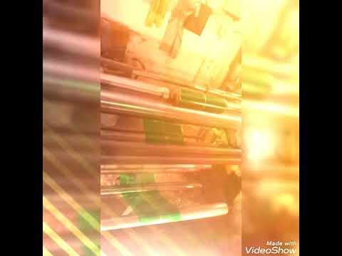 Green Paper Plate Raw Material 100 GSM  / Film ( Kela Patta )