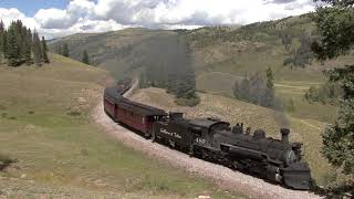 Locomotive 487 at Upper Los Pinos - Video by James Parfrey
