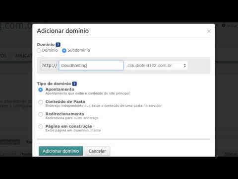 Domínios de sites e zona de DNS